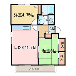メゾントレビVI[2階]の間取り