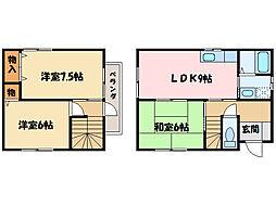 [一戸建] 愛媛県新居浜市田の上2丁目 の賃貸【愛媛県 / 新居浜市】の間取り