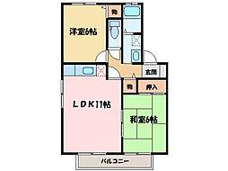 クレールメゾン B棟[2階]の間取り
