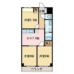 第7水野マンション[6階]の間取り