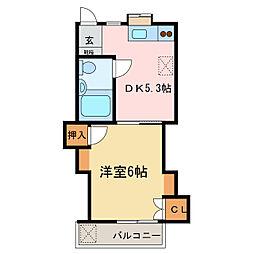 ユースハイツII[2階]の間取り