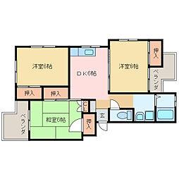 神野マンション(本郷)[111号室]の間取り