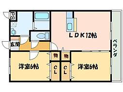 コーンハイツII[3階]の間取り
