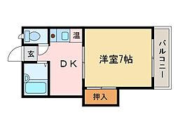 メゾン千[1階]の間取り