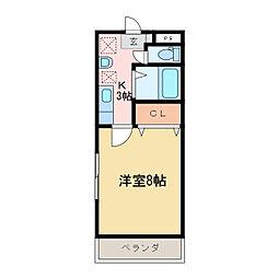 コーンハイツI[1階]の間取り