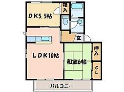 バリュージュ新須賀[1階]の間取り