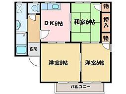 メゾントレビXIII[2階]の間取り