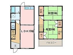 [一戸建] 愛媛県新居浜市中村松木2丁目 の賃貸【/】の間取り