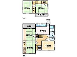 [一戸建] 愛媛県新居浜市八幡1丁目 の賃貸【/】の間取り