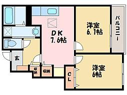 シュウ・レミングC[1階]の間取り