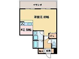 ロイヤルステージ庄内[4階]の間取り