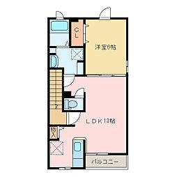 国領1丁目アパート C[C201号室]の間取り