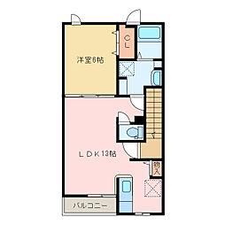 国領1丁目アパート C[C203号室]の間取り