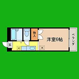 滋賀県大津市山上町の賃貸アパートの間取り