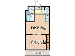 滋賀県大津市別保2丁目の賃貸マンションの間取り