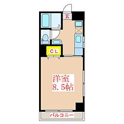 レジデンスTK[1階]の間取り