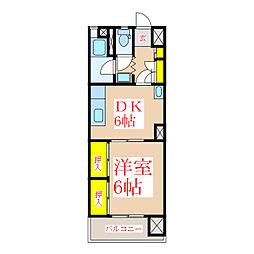共研ビル[4階]の間取り