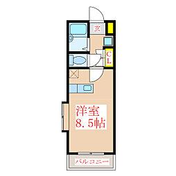 JAウィング新屋敷[5階]の間取り