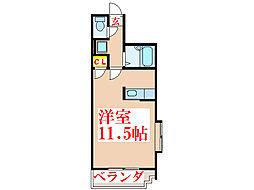 ボヌール武[4階]の間取り