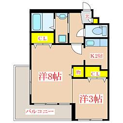 ダイムビル [4階]の間取り