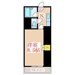 ハイアット21堀江町[2階]の間取り