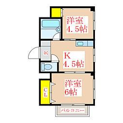 サンロイヤル新屋敷[7階]の間取り