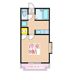 コンフォール上本町[4階]の間取り