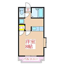 コンフォール上本町[1階]の間取り