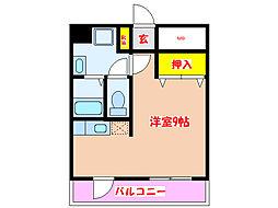 スプリングハイム[6階]の間取り