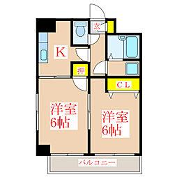 サンライズ福永 [3階]の間取り