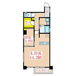 Lapis Uenosono[3階]の間取り