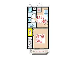 共研ハイツII[4階]の間取り