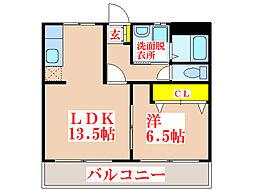 キュアプレイス吉野中央[3階]の間取り