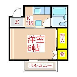 Y's BLD.VIII[5階]の間取り