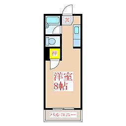 エース平之町[4階]の間取り