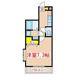ParkSide葉月館[4階]の間取り
