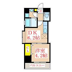 ツインコート・タワーズI番館[4階]の間取り