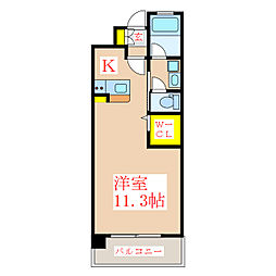 A-STEP甲突[2階]の間取り