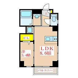 SAT BLD 呉服[6階]の間取り