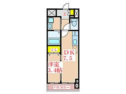 デ・クオーレ樋之口[3階]の間取り