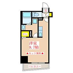 パラディーゾ柳町 8階ワンルームの間取り