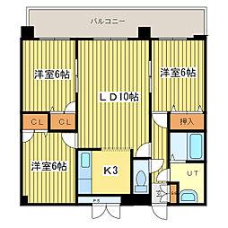 アバンセ丸菱[7階]の間取り
