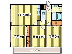 アバンセ丸菱[6階]の間取り