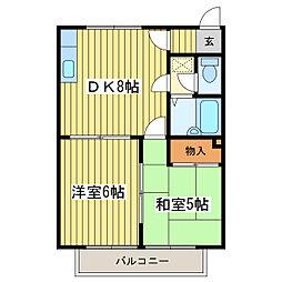 ハイツSK[2階]の間取り