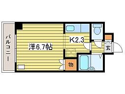 プロシード元町[4階]の間取り