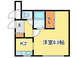 リンクN32[3階]の間取り
