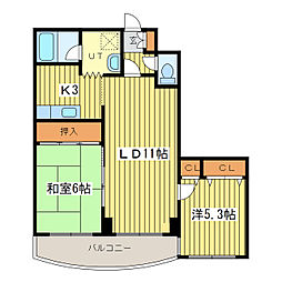VILLA−SPICA(ヴィラスピカ)[3階]の間取り