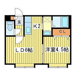 ラ・クレア[3階]の間取り