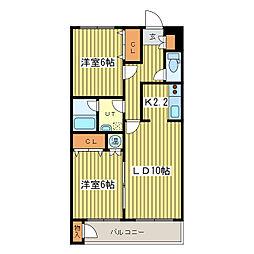 マイドリーム2[4階]の間取り