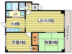 北海道札幌市東区北二十二条東13丁目の賃貸マンションの間取り